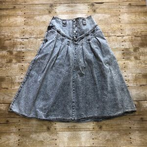 Jordache Vintage 80's Flare  High-rise Skirt Sz 12